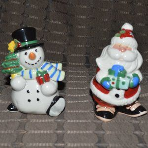 Fitz & Floyd Merry & Bright Salt & Pepper Shakers